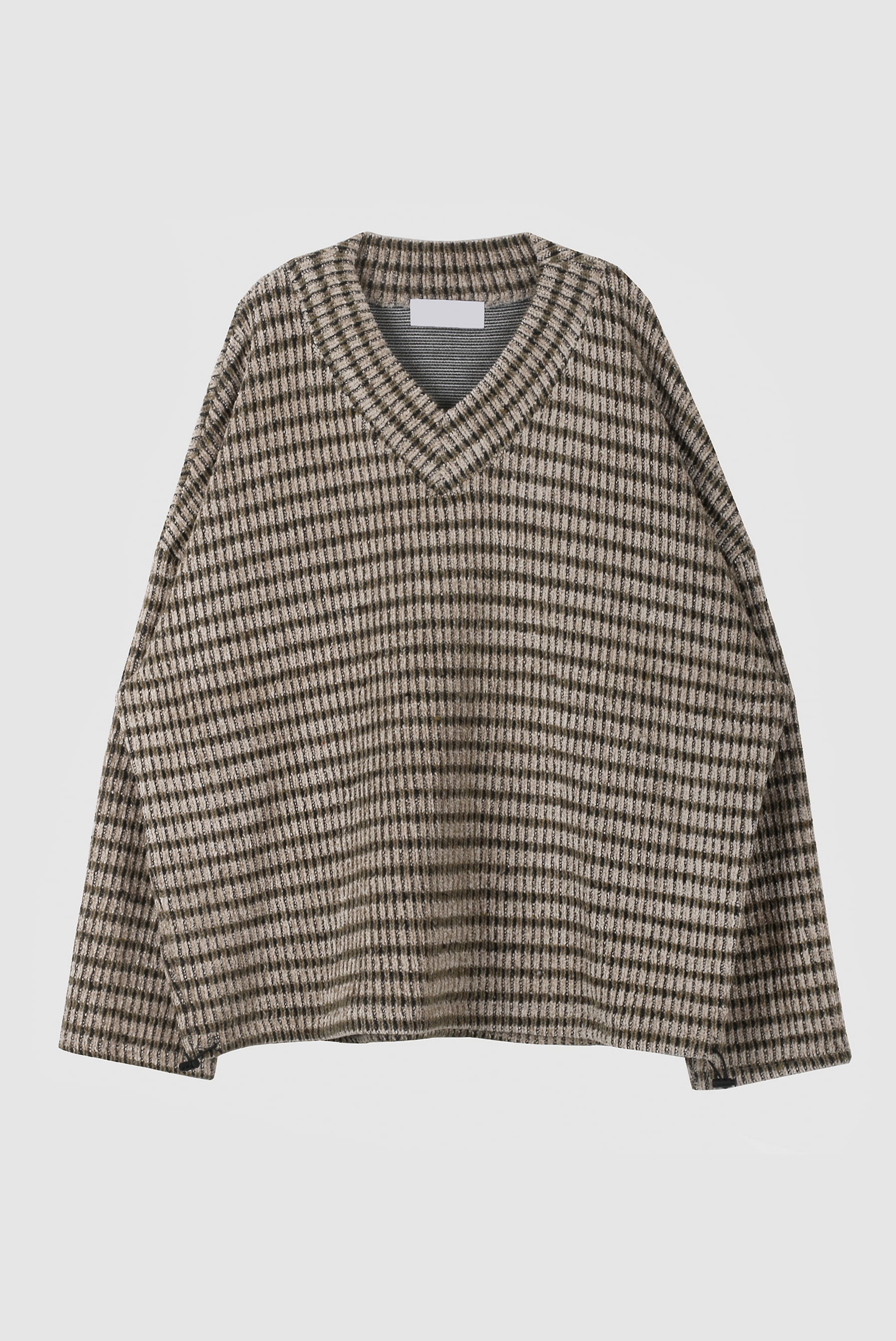 Heavy Jagard V_Neck Knit