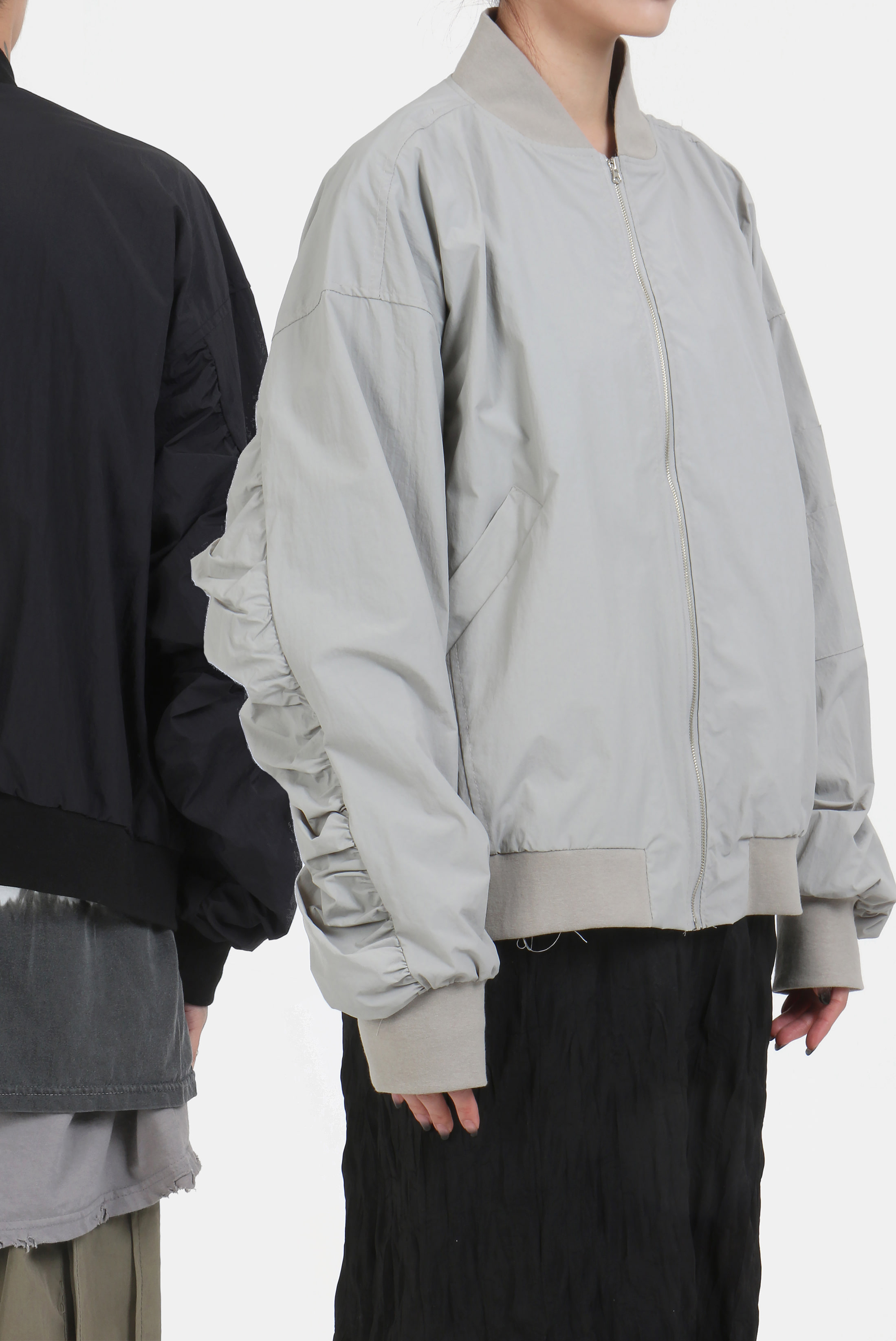Arm_Shirring Windbreak_Jacket