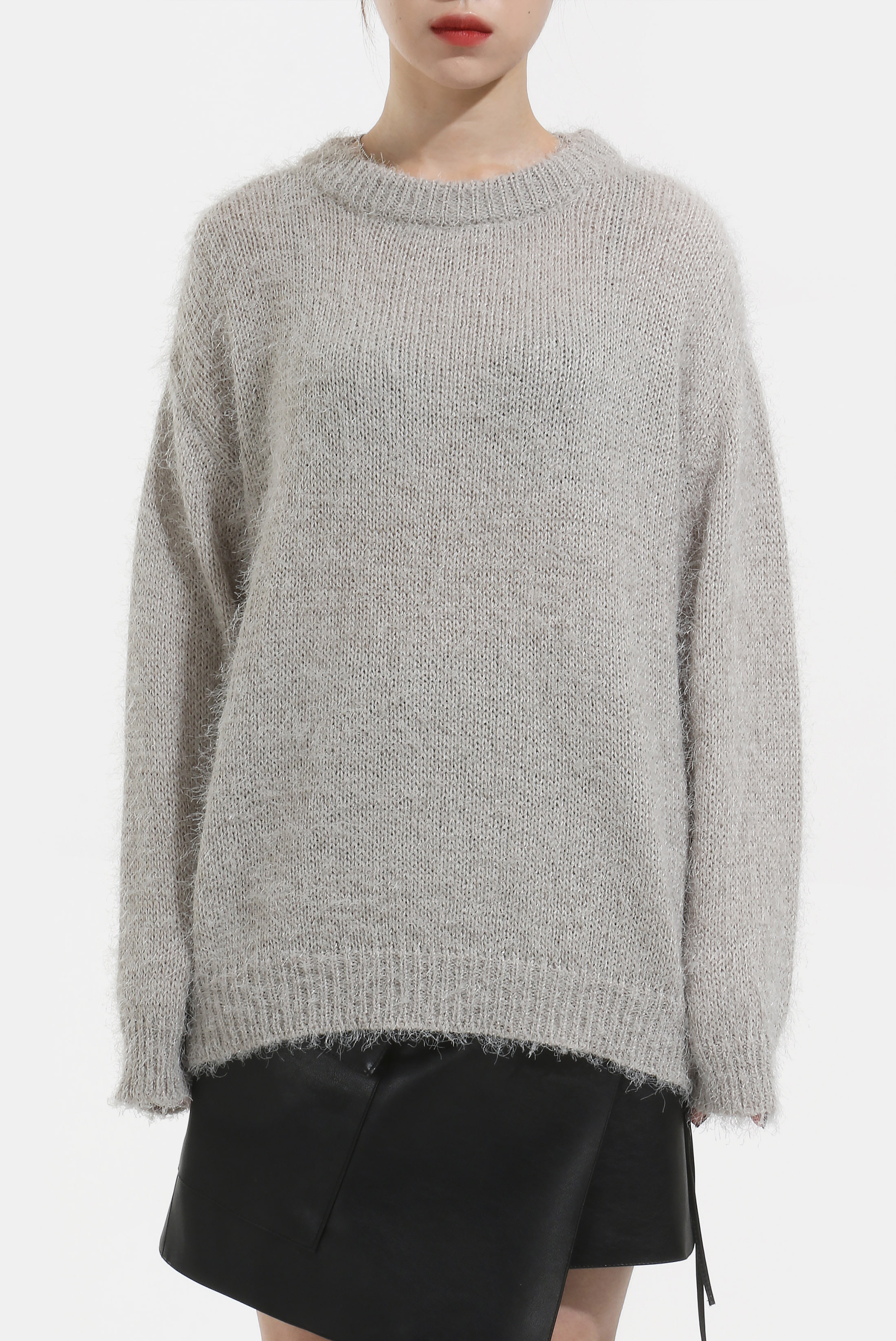 (W) Soft_Fur Wide Knit