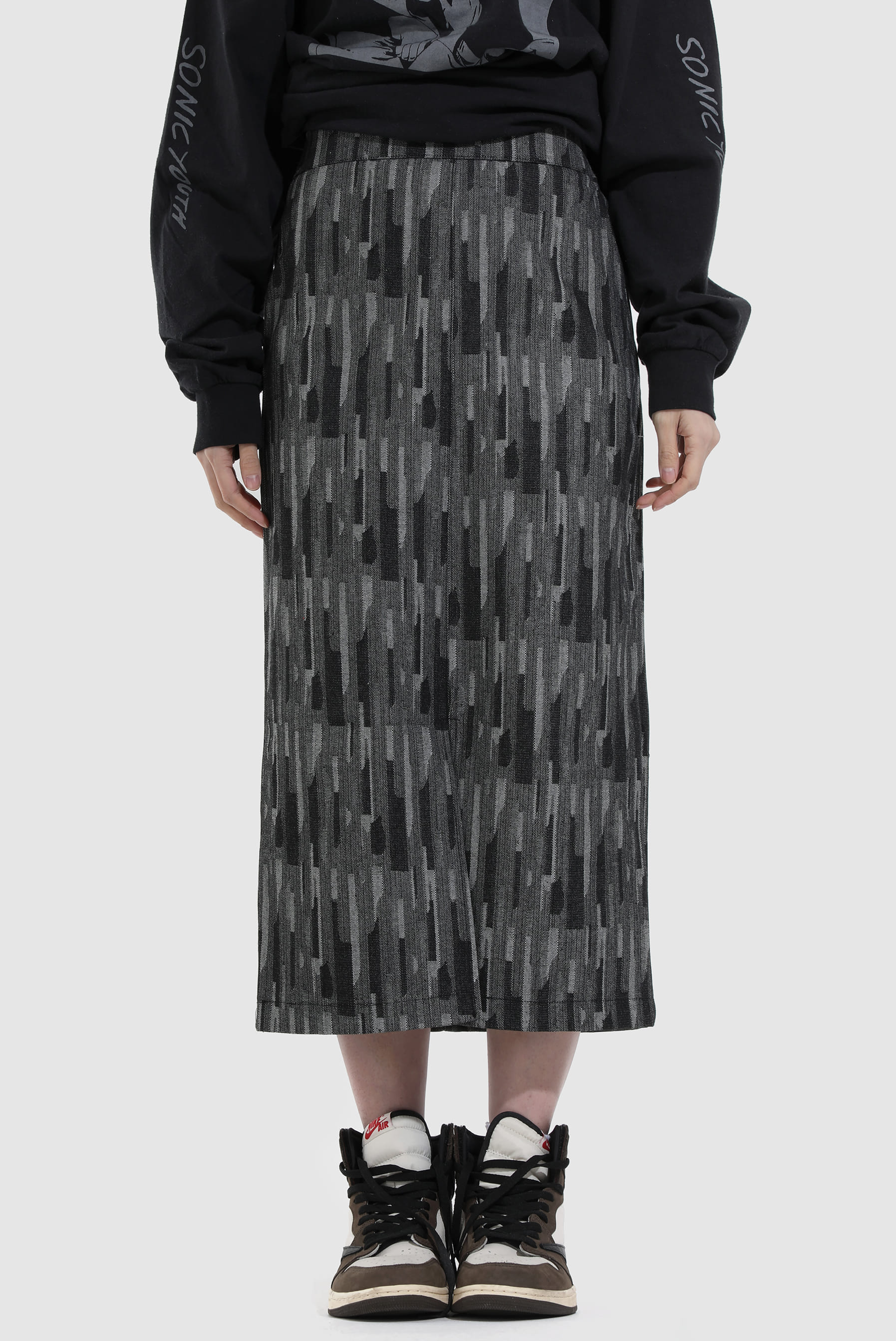 Herringbone_Denim Skirt