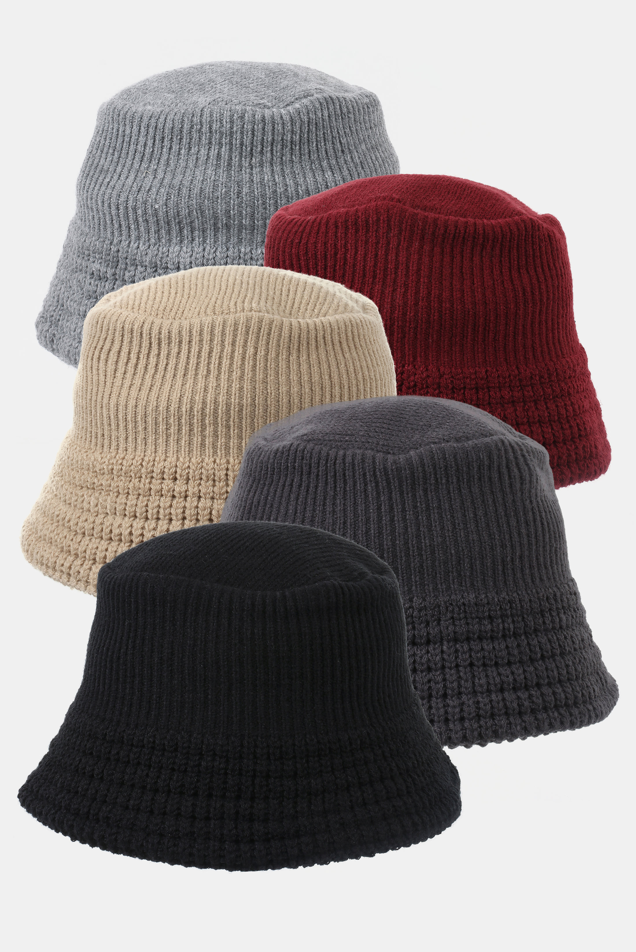 Thick_Knit Bucket Hat