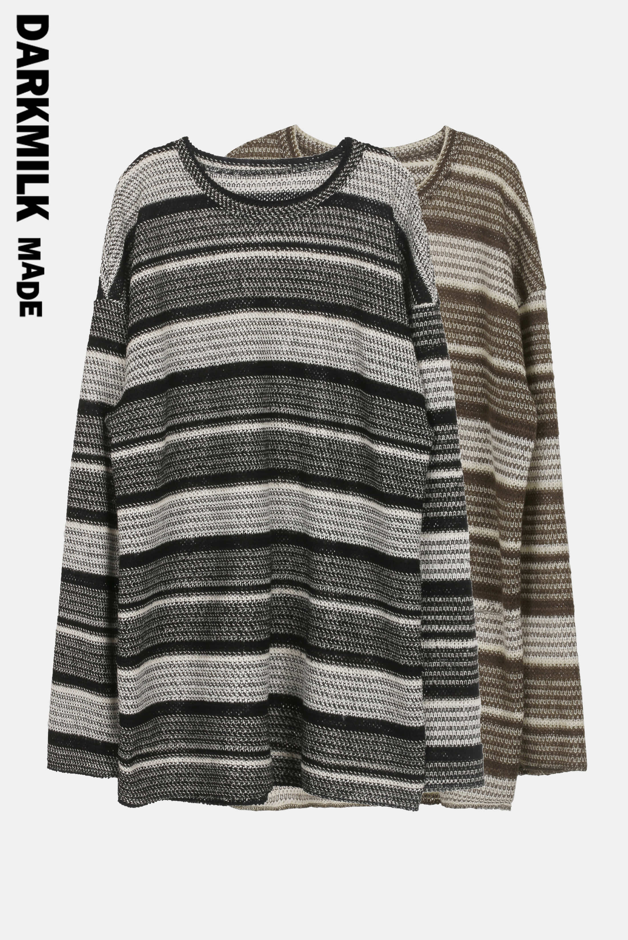 [MADE] Over_Long Unbalance_Stripe Knitwear