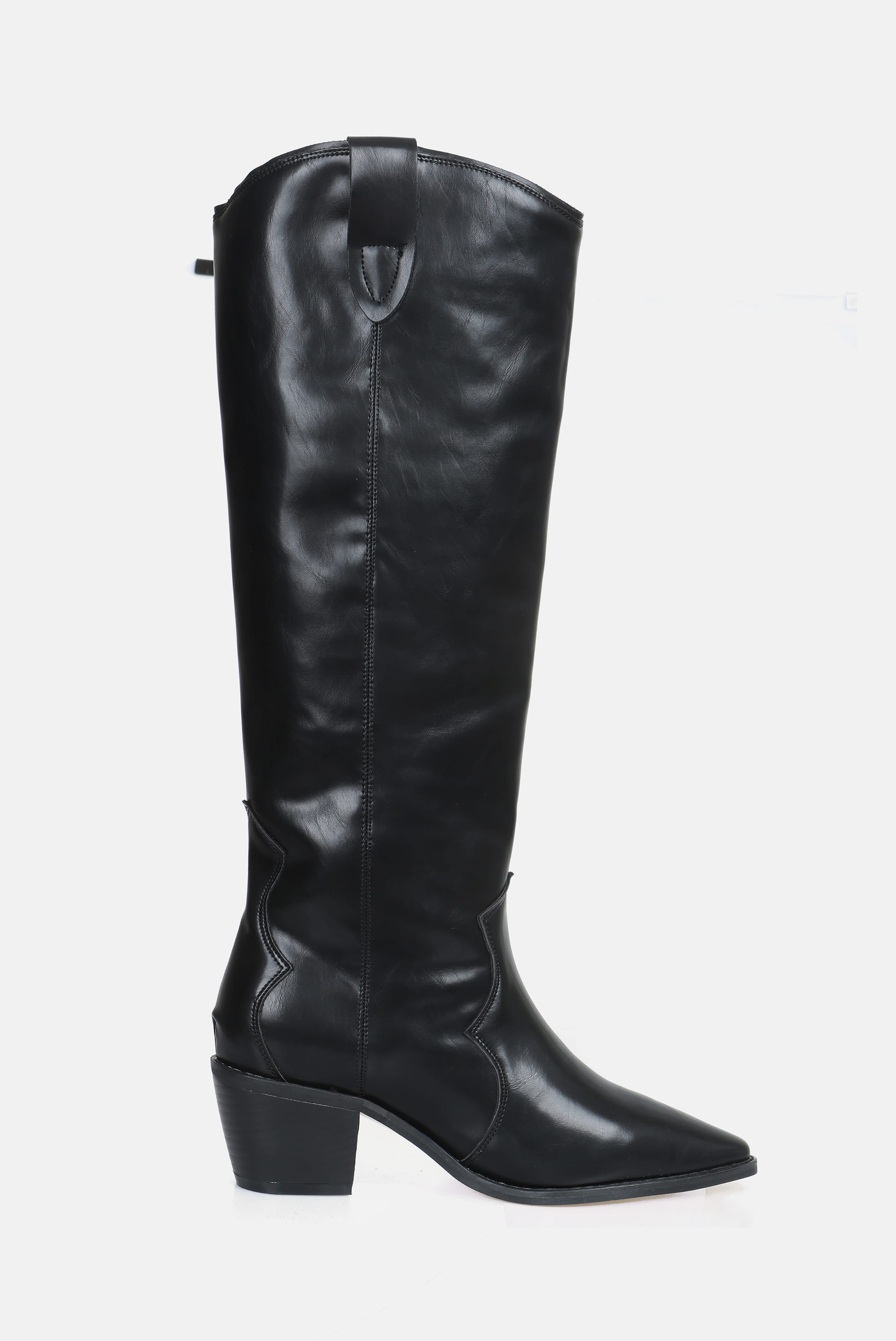(W) Western_Leather Long_Boots