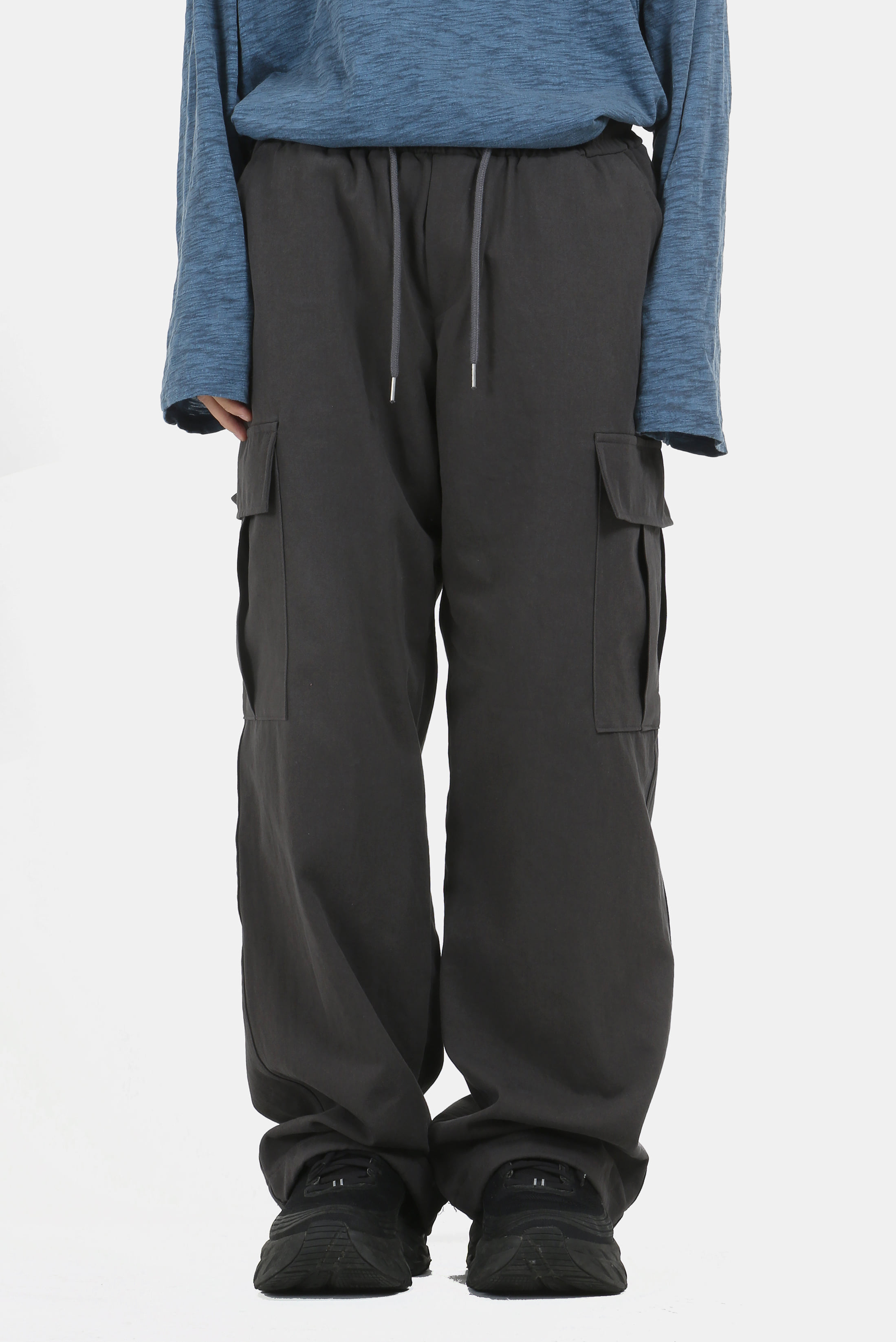Wide_String Cotton Cargo_Pants